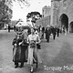 Her Majesty Queen Elizabeth II escorted by the Mayor at Torre Abbey in May 1956.